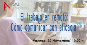 EL TRABAJO EN REMOTO: CÓMO COMUNICAR CON EFICACIA