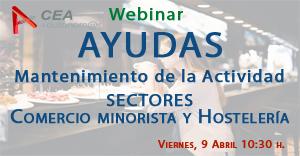 AYUDAS PARA EL MANTENIMIENTO DE LA ACTIVIDAD EN LOS SECTORES DEL COMERCIO MINORISTA Y LA HOSTELERÍA